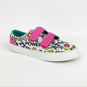 NWOB Chooze Girl's Velcro Girl Power Sneakers